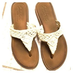 Skechers Lux Foam Crochet Sandals